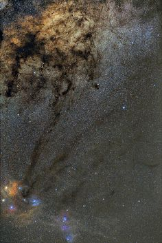 Rho Ophiuchi and Pipe Nebula Wide Field Image by Martin P Campbell, via Flickr