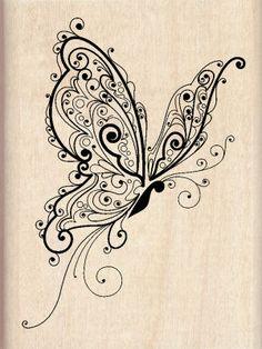 Inkadinkado® Butterfly Wood Stamp, large