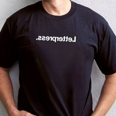 Letterpress.   T-Shirt from FAB