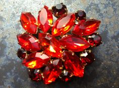 Vintage Brooch 60s Antique Czech/German by CodettiSupply on Etsy, $23.00