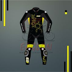 This Suit is designed by Eaglon Sports for Lovers of Nine Times World Champion Valentino Rossi by his Sun & Moon Logos used this year 2017. Suit is availabl
