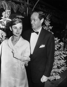 Audrey Hepburn with Mel Ferrer at the premiere of A Farewell to Arms, December 18 1957.