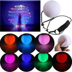 New Fashion LED POI Thrown Balls for Professional Belly Dance Level Hand Props Sale - Banggood Mobile Tumblr Hipster, Led Color, Color Red, Rose Orange, Ball Lights, Soft Plastic, Night Lamps, Belly Dancers, Sierra Leone