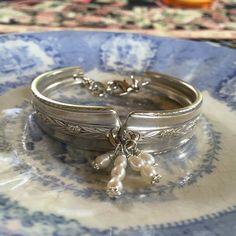 Antique Silver Spoon Bracelet argent et par dishfunctionldesigns