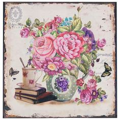 Wonderful #canvas wall #painting #flowers. www.inart.com