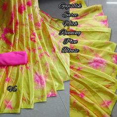Whatsapp on for Order, Query & Updates on Latest Collection. Latest Sarees Online, Sari Dress, Bridal Sarees, Georgette Fabric, Saree Styles, Printed Sarees, Designer Sarees, Saree Collection, Party Wear