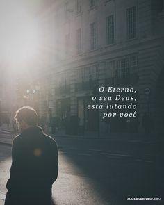 """""""Não tenha medo deles. O Eterno o seu Deus está lutando por você. - Deuteronômio 3:22 () maisoverflow.com  #30daysofbiblelettering  X"""