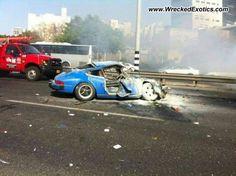 Porsche 911/BMW wrecked, Israel, photo #2