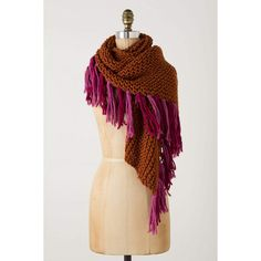 Netty Fringed Scarf ($78) ❤ liked on Polyvore