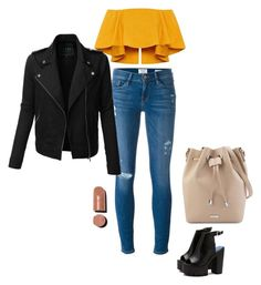 """""""#outfit #autumn"""" by gabriela-przystal on Polyvore featuring Frame Denim, LE3NO and Chanel"""