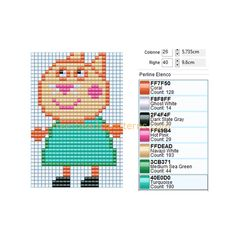 Candy Cat Peppa Pig's friend free perler beads pattern made with Bead Tool