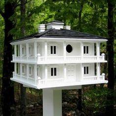 Home Bazaar 12-In W X 11-In H X 12-In D White Bird House Hb-2048