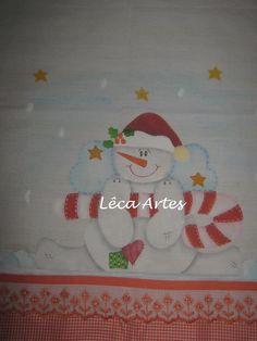 Pano de Prato Boneco de neve.