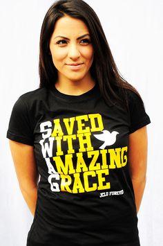 $10.00 TODAY !!  WOMEN-SHIRT-SWAG-BLACK-Christian T-Shirt by JCLU Forever Christian t-shirts