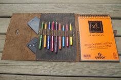Leather Sketchbook by Egemen Toker on Etsy