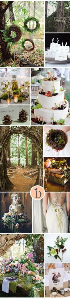 Woodland has a magical atmosphere, and makes for a beautiful wedding theme. Whether you go earthy and natural or full-on enchanted forest (or a mixture of the two), there is no doubt that this will be one unforgettable wedding
