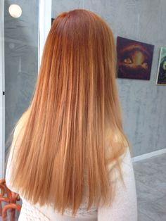 Goldcopper hair