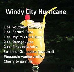 Liquor Drinks, Cocktail Drinks, Cocktail Recipes, Beverages, Refreshing Drinks, Summer Drinks, Hurricane Drink, Hurricane Cocktail Recipe, Hurricane Party