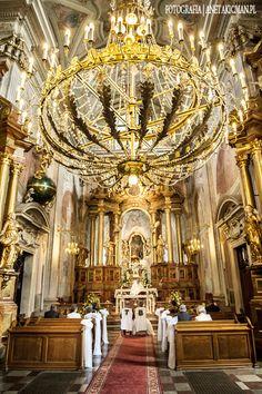 Wedding Ceremony in St. Anna Church, Warsaw, Poland