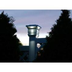 "Solar Powered 4"" LED Post Cap Light - #68724 | LampsPlus.com"