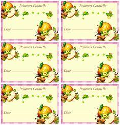 Étiquettes pour confiture de pommes cannelle - Carterie Bilitis
