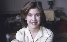 Carrie Fisher in 1975, aged 19