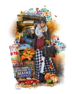 """Fall Colors of Maine"" by duchessbee ❤ liked on Polyvore featuring art and 159"