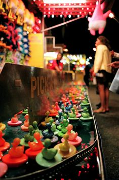pick-a-duck game on a carnival midway