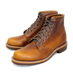 "Chippewa Boots   6"" Service Boot   Tan Renegade"