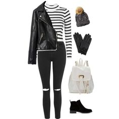 A fashion look from January 2016 featuring Topshop sweaters, Topshop jeans and Lucky Brand ankle booties. Browse and shop related looks.