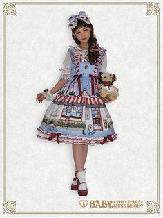 Kitten's Sweet Cherries Cafe Diner frill jumper skirt