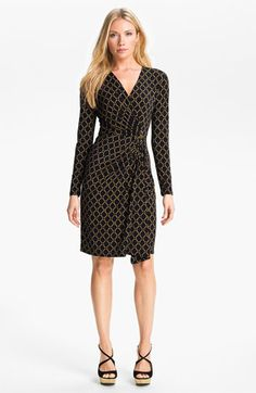 82ee11e2e6e MICHAEL Michael Kors Chain Print Faux Wrap Dress available at  Nordstrom  Classic Wardrobe
