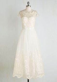 Sparkling Celebration Dress | Tea Length Wedding Dress from ModCloth.com
