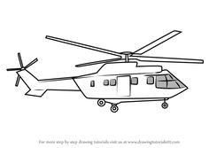 Coloriage Hélicoptère à colorier - Dessin à imprimer ...