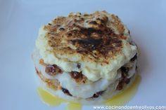 Milhojas de bacalao con gratinado de alioli. Fish And Seafood, Tapas, Muffin, Breakfast, Desserts, Recipes, Gluten, Drink, Blog