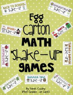 egg carton math shake-up games