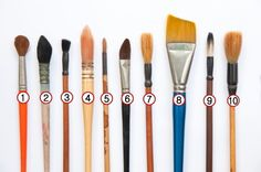 Types of Paintbrushes and Their Uses   Planning to take up an art class? You better get acquainted with the types of brushes that are needed to get you started. Take a look at the brushes mentioned in this Buzzle article, to gain insight on the types and their respective uses Read more at Buzzle: http://www.buzzle.com/articles/types-of-paint-brushes-and-their-uses.html