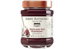 Robert Rothschild Farm Seedless Red Raspberry Preserves make make festive Red, White, and Blue Raspberry Cream Popsicles.