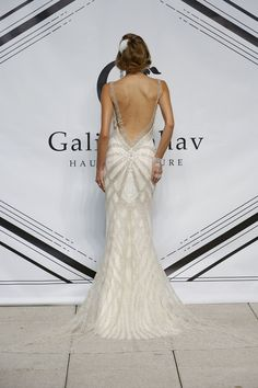 Galia Lahav gown with a low, low back