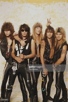 Portrait of American glam rock band Warrant early Pictured are from left Steven Sweet Jerry Dixon Jani Lane Erik Turner and Joel Allen 80s Glam Rock, Glam Rock Bands, Big Hair Bands, Hair Metal Bands, Hard Rock, Glam Metal, Daft Punk, Blues Rock, Twenty One Pilots