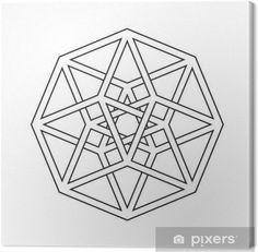 Illustration of Hypercube, tesseract, geometric symbol, line design vector art, clipart and stock vectors. Geometry Pattern, Geometry Art, Sacred Geometry, Pattern Art, Geometric Symbols, Geometric Designs, Geometric Shapes, Op Art, Doodle Zen