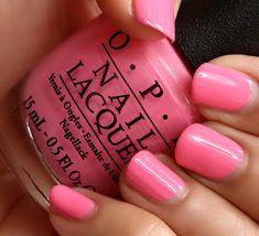 OPI Kiss Me I'm Brazilian, a creamy warm pink | via Makeup and Beauty Blog