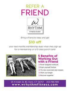 Refer a Friend to W. Rhythm Fitness Studio