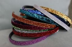 Easy DIY sparkly ribbon headbands