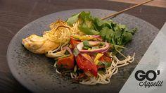 Thai kylling med ristede gulerødder og bagte ingefærpeberfrugter