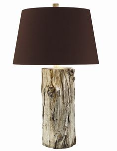 Silver plated log lamp. Rustic chic | Goldberg Tall Table Lamp | #lighting, #lamp, #homedecor | thepicketfence.com