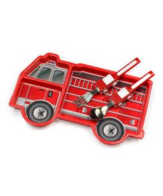Look what I found on #zulily! Fire Engine Tableware Set by Urban Trend Funwares #zulilyfinds