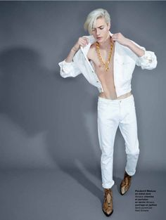 Lucky Blue Smith Models the Spring Collections for L Officiel Hommes Brazil  Editorial. Versace c9861c611c4