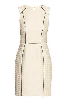 Vestido jacquard sem mangas | H&M