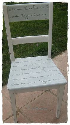 stenciling on a painted chair